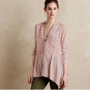 Anthropologie Maeve uneven Leiken blouse size 10